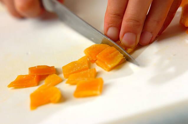 マンゴーとココナッツのマフィンの作り方の手順3