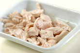 菜の花と蒸し鶏のサラダの作り方2