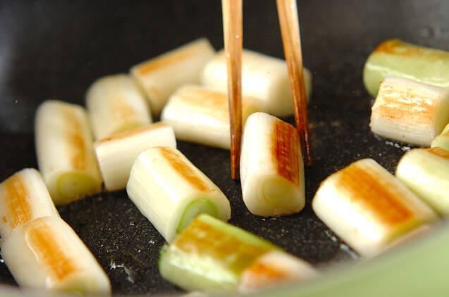 白ネギのショウガ酢漬けの作り方の手順3