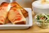 チーズと明太子のトーストの作り方の手順