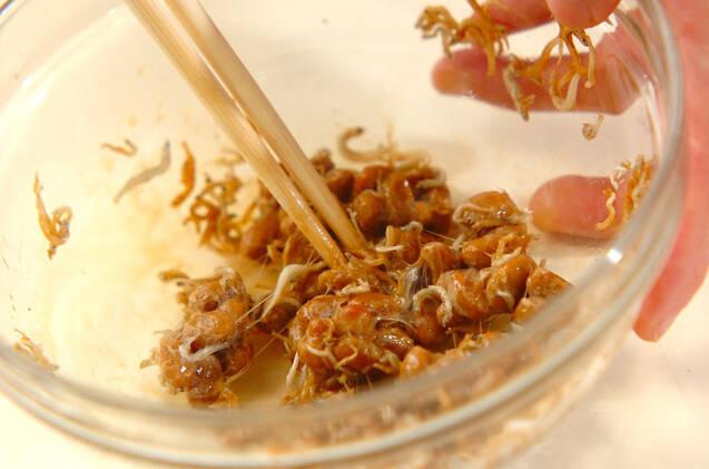 エノキ入り納豆の作り方の手順3