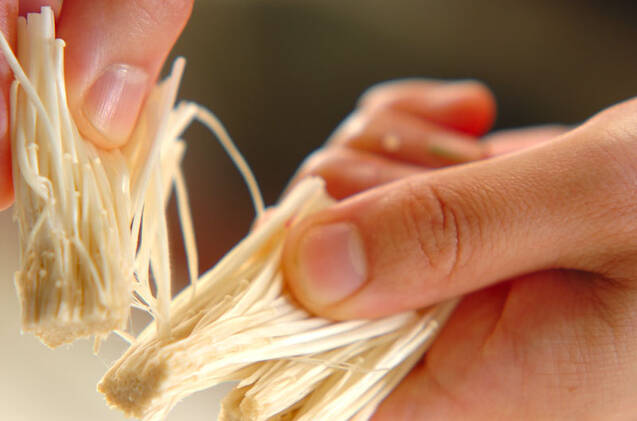 エノキ入り納豆の作り方の手順1