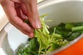 小松菜の甘酢和えの作り方1