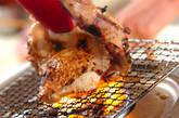 炙り鶏ちり鍋の下準備1