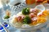 梅おろしのせ七夕素麺