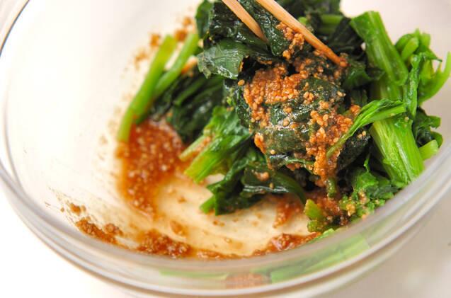 青菜のゴマ和えの作り方の手順4
