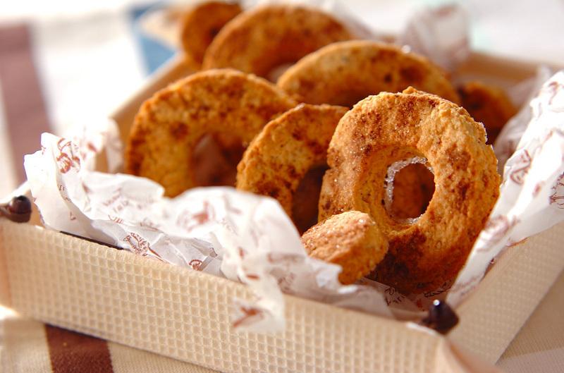 ホットケーキミックスでヘルシー焼きドーナツ