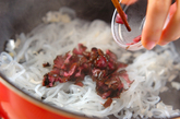 糸コンニャクのしば漬け炒めの作り方2