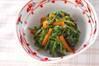菊菜とセリのゴマ汚しの作り方の手順