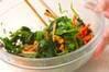 菊菜とセリのゴマ汚しの作り方の手順4