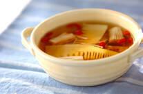 エノキとタケノコの中華スープ
