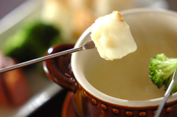 白みそチーズフォンデュ