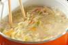冬野菜の春雨スープの作り方の手順3