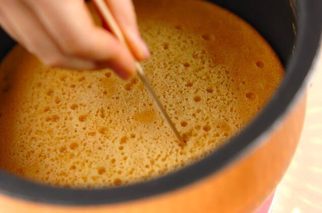 炊飯器で作るキャラメルケーキの作り方の手順4