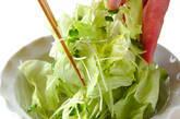 カリカリジャコサラダの作り方3