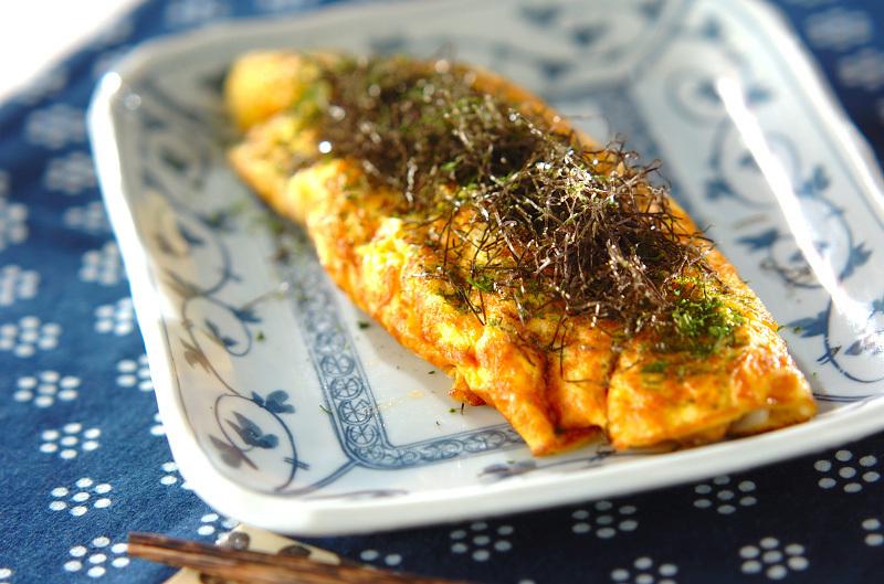3. 塩納豆チーズオムレツ