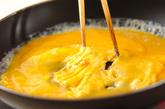 塩納豆チーズオムレツの作り方3