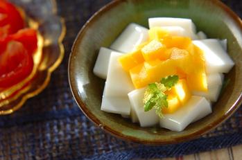 ミルクカンとマンゴーのデザート