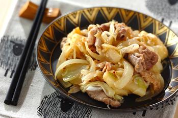 豚肉とジャガイモのみそ炒め