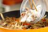 イカゲソとゴボウのきんぴらの作り方の手順4