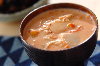 里芋の豆乳キムチ汁