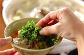 キャベツと白菜の野菜酒粕鍋の作り方2