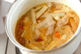 トマトカレーつけ麺の作り方1
