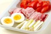 トマトカレーつけ麺の下準備1