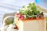 豆腐の梅ダレ