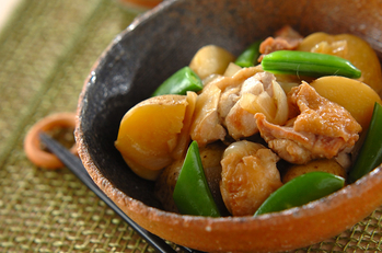 ほっくほく!甘辛新ジャガと鶏肉の煮物
