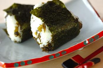 野沢菜のおにぎり