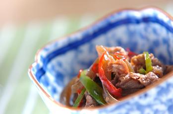 牛肉と突きコンの炒め煮