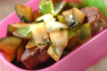 ハンバーグ和風野菜ソース