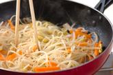 豆モヤシのピリ辛炒めの作り方2