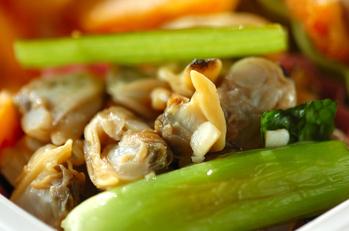 アサリと小松菜の炒め物