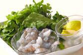 菊菜・かき揚げの下準備1