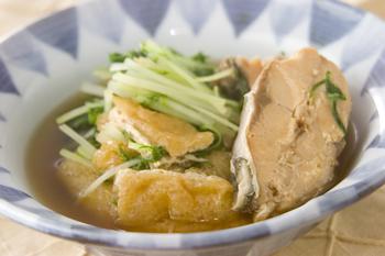 水菜と鮭缶のサッと煮