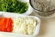 野菜の酢の物の下準備3