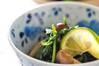 菊菜とミツバのお浸しの作り方の手順