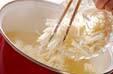 エノキのみそ汁の作り方の手順4