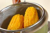 バターじょうゆトウモロコシの作り方1