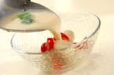 白玉団子入り豆乳冷汁の作り方2