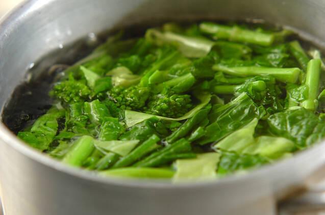 ハマグリと菜の花の和風クリームパスタの作り方の手順3
