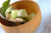 チンゲンサイのスープの作り方2