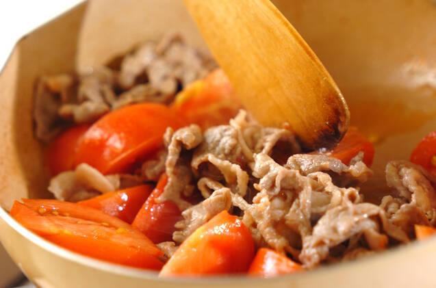 豚肉とトマトのナンプラー炒めの作り方の手順2