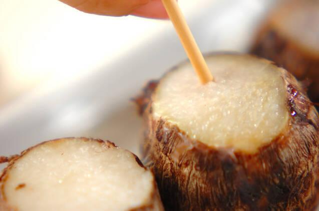 里芋団子のみそ汁の作り方の手順1