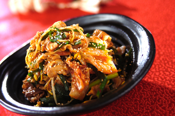 豚肉とキムチの炒め物