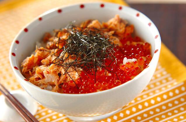鮭とイクラの親子丼