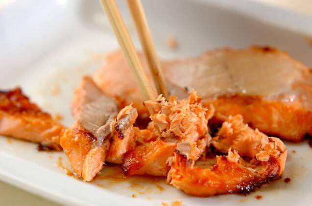 鮭とイクラの親子丼の作り方の手順2