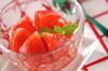 冷やしトマトのデザートの作り方の手順